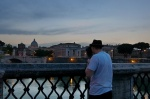 rome, italy, city, bridge, basilica, twilight, selfie, 2013, photo