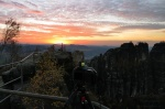 greetings, from, saxon switzerland, sunset, autumn, germany, 2013, Wandern auf die Schrammsteine, photo