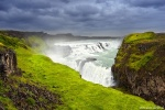 gullfoss, waterfall, cascade, river, summer, rain, arctic, iceland, 2017, photo