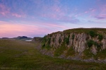 sunset, clouds, hadrians wall, summer, england, scotland, 2014, Scotland, photo