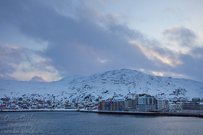 winter, norway, harbour, mountains, snow, city, photo