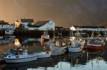 sunset, fjord, boat, harbour, lofoten, norway, 2013, photo