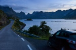 roadshot, norway, lofoten, blue hour, car, 2013, photo