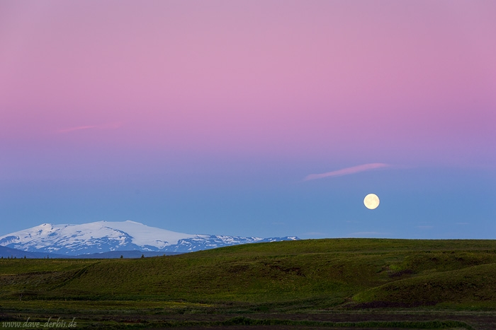 arctic, volcano, mountain, moon, sunset, sunrise, twilight, summer, iceland, 2017, photo