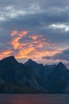 mountain, sunset, fjord, norway, lofoten, photo
