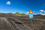 roadshot, dirt road, highlands, mountains, sign, volcanic, iceland, 2016, photo