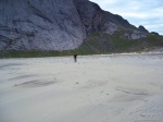 hiking, bunes, beach, lofoten, norway, 2013, Hiking Bunes Beach, photo