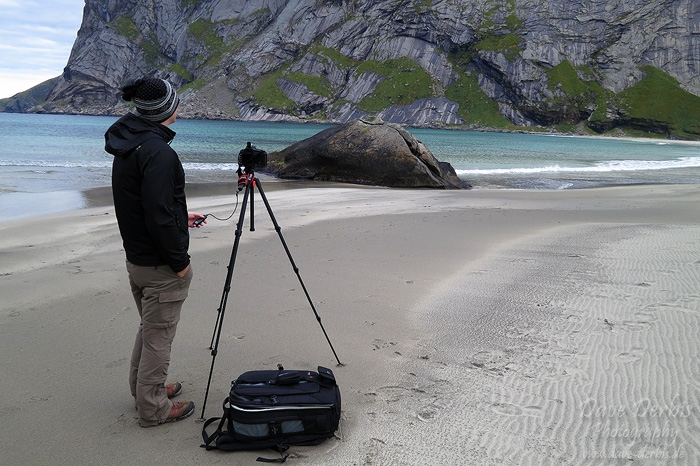 greetings, from, hiking, bunes, beach, lofoten, selfie, norway, 2013, photo