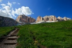hiking, mountain, trail, passo, pordoi, dolomites, italy, 2011, photo