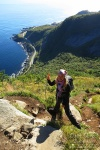 hiking, reinebringen, lofoten, norway, 2013, kirsten, photo
