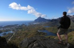 hiking, tjeldbergtinden, mountain, norway, lofoten, 2013
