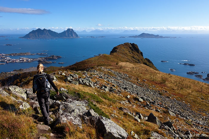 hiking, tjeldbergtinden, mountain, norway, lofoten, 2013, photo
