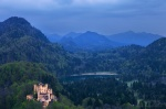 castle, bavaria, blue hour, alps, lake, mountain, germany, 2014, Stock Images Germany, photo