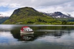 lake, mountain, reflection, snow, boat, norway, 2015, photo