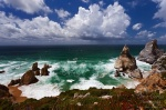ursa, beach, storm, clouds, rain, cliff, rugged, atlantic, portugal, photo