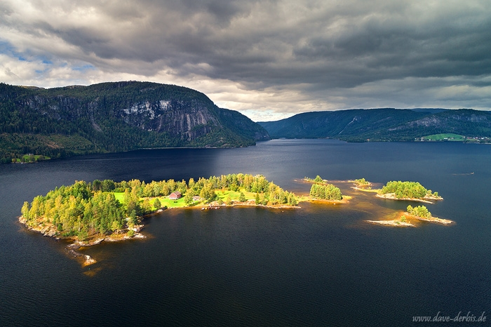 aerial, drone, lake, mountains, summer, from above, light, norway, 2019, photo