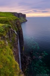 waterfall, skye, summer, sunset, cliff, scotland, 2014