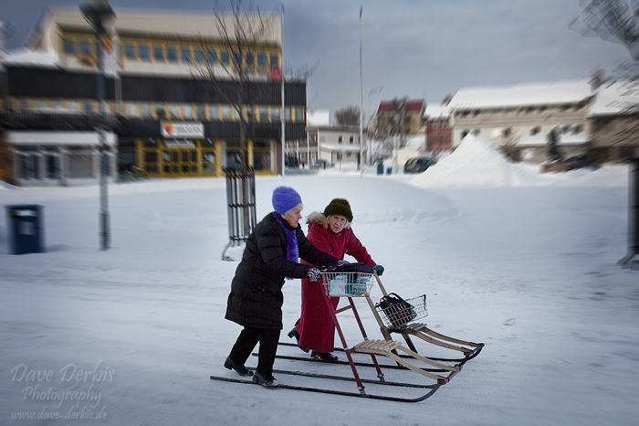 kirkenes, boulevard, snow, norway, photo