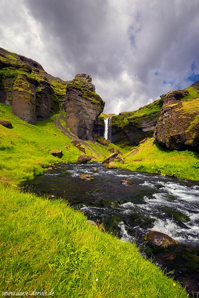 kvernufoss, waterfall, paradise, valley, canyon, cliff, iceland, 2017, photo