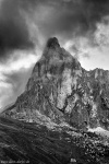 rugged, peak, summit, pass, bnw, dolomites, italy, 2016, Italy, photo