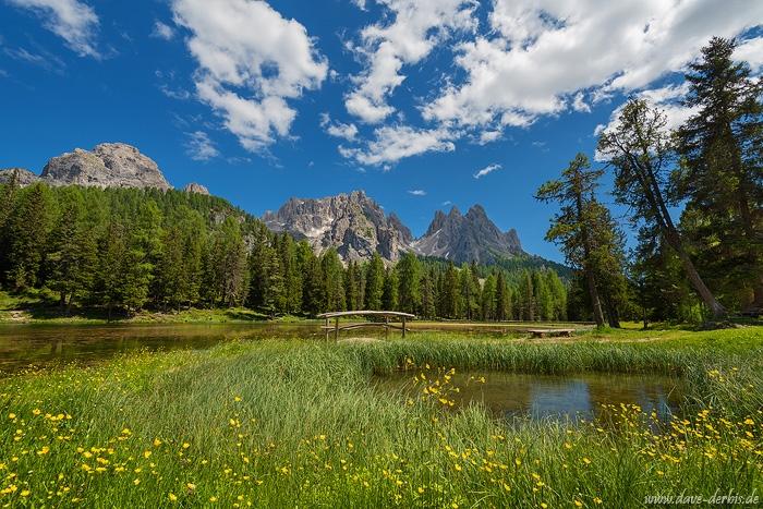 Lago Antorno Summer Dolomites Italy Dave Derbis