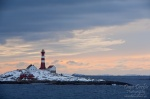 norway, sea, coast, lighthouse, mountain, hurtigruten, photo