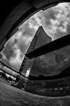 leipzig, downtown, city, fisheye, bnw, photo