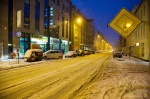 leipzig, city, blue hour, street, roadshot, winter, snow, sachsen, saxony, germany, photo