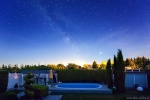 night, brumby, pool, stars, jupiter, milky way, germany, 2019, photo