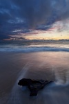 sunset, beach, baltic sea, weststrand, waves, ocean, twilight, germany, 2011, photo