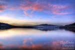 sunset, lake, mondsee, reflection, alpen, amazing, striking, light, soft, clouds, sky, colour, pink, austria, österreich, photo