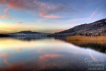 sunset, lake, mondsee, reflection, mountain, amazing, striking, clouds, sky, colour, pink, austria, österreich, photo