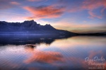 sunset, mondsee, lake, reflection, mountain, alpen, amazing, striking, light, soft, clouds, sky, colour, pink, austria, österreich, photo