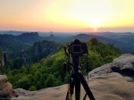 hunting the light, greetings from, saxon switzerland, mountain, hiking, germany, 2018, Heringstein - Mountain Bivouac, photo