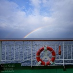 rainbow, ocean, norway, boat, sea, 2010, photo