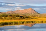 reflection, mirror, lake, mountain, golden hour, iceland, 2016, photo