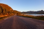 roadshot, road, sunset, mountain, lofoten, norway, 2013, Stock Images Norway, photo