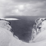 norway, cliff, coast, cape, north, globe, hurtigruten, bnw, photo