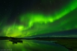 northern lights, night, sky, aurora, borealis, reflection, iceland, 2016, photo