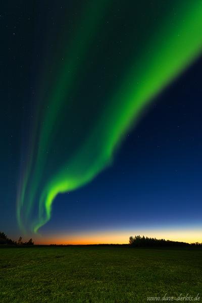 Northern Lights Sunset Iceland Dave Derbis