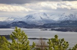 norway, fjord, mountain, snow, hurtigruten, photo