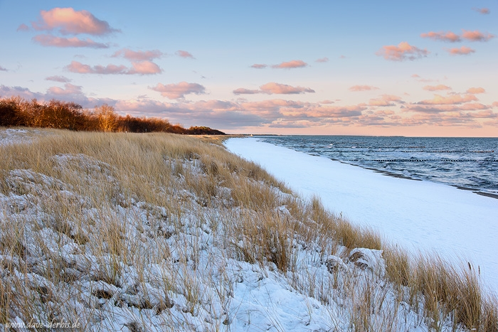 sunrise, baltic sea, winter, sunrise, beach, snow, zingst, germany, latest, photo