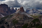 mountains, dolomites, clouds, rugged, hills, 2011, italy, photo