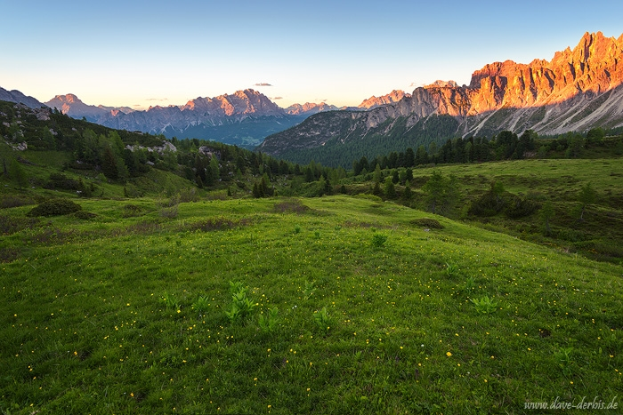 sunset, alpenglow, mountains, view, dolomites, italy, 2016, photo