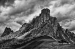 mountains, hut, storm, clouds, dolomites, italy, bnw, 2011, Italy, photo