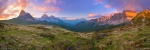 sunset, mountains, panorama, view, rugged, pass, dolomites, italy, 2016, Panoramas, photo
