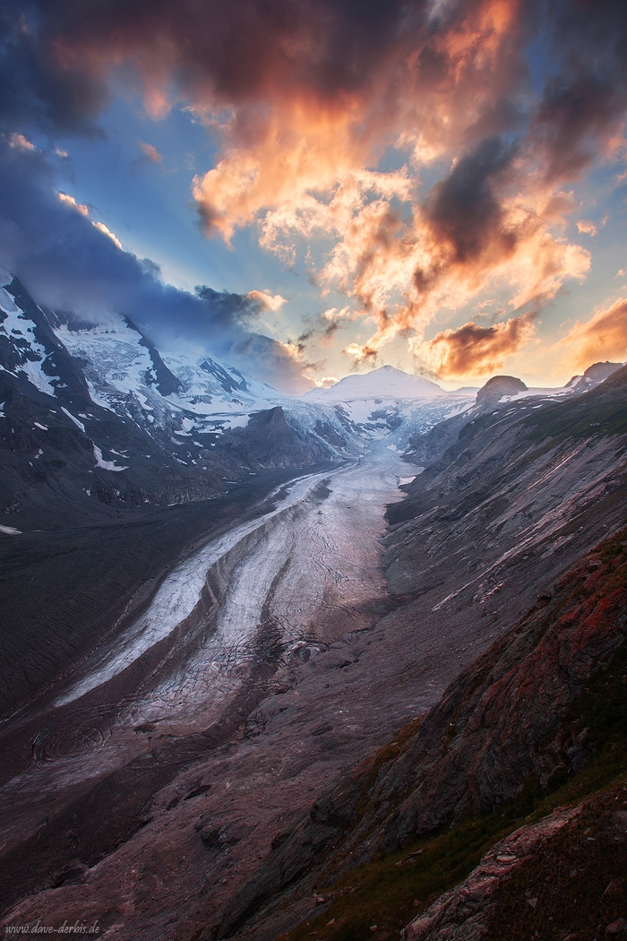 sunset, glacier, mountain, national park, winter, snow, hohe tauern, austria, 2010, photo