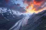 glacier, sunset, hohe tauern, national park, alpes, mountain, austria, grossglockner, photo