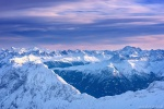 mountains, sunset, winter, alps, summit, snow, bavaria, germany, 2020, photo