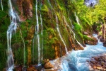 waterfall, creek, stream, mountains, alps, bavaria, germany, 2020, photo